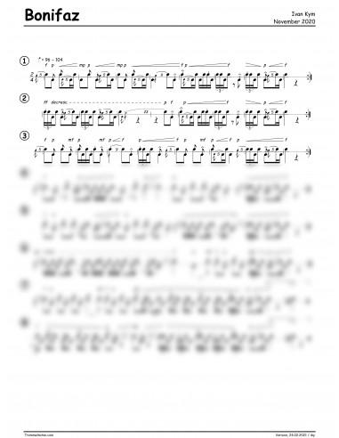 Bonifaz 1 Trommelnoten / Kym Ivan