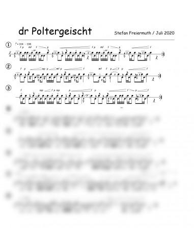 Poltergeischt, dr / 1 Trommelnoten /...