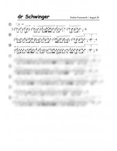 Schwinger, dr / 1 Trommelnoten /...