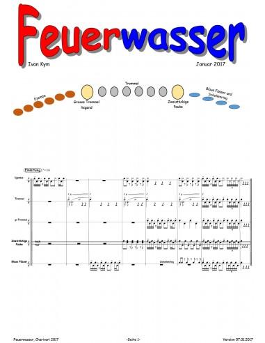 Feuerwasser 1 Trommelnoten-Partitur /...