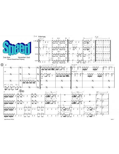 Speed 1 Trommelnoten-Partitur / Kym Ivan