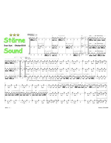 Stärne Sound 1 Trommelnoten-Partitur...