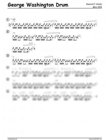 George Washington Drum 1 Trommelnoten...